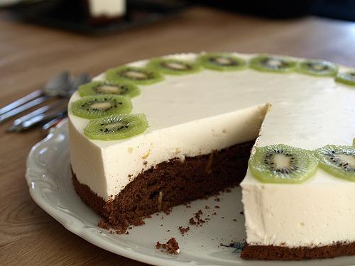 Kiwi, Cake, Cheesecake