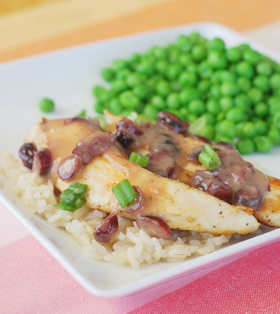 Chicken with Cranberry Mustard Sauce