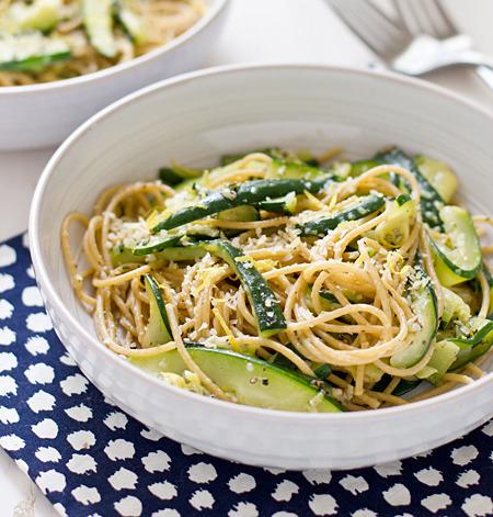 Zucchini And Lemon Spaghetti