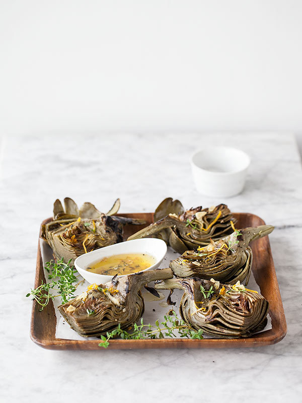 Grilled Artichokes with Garlic Butter