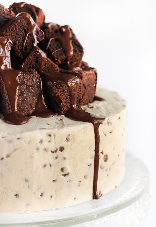 Recipe: Fudge Brownie & Cookie Dough Cake