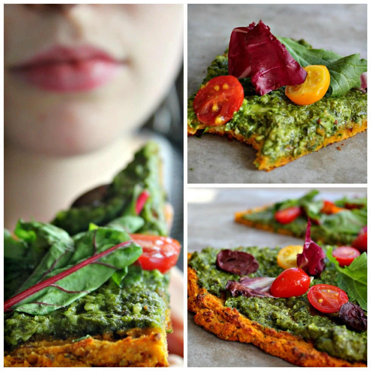 Incredible Squash Pizza! Vegan, gluten free, and grain free!http