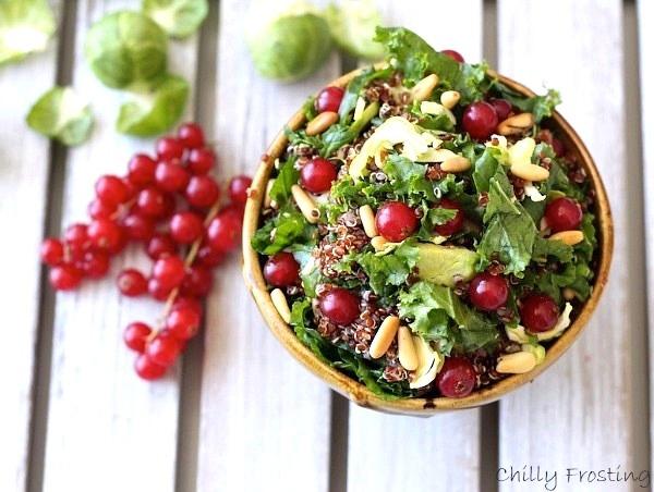 Quinoa, Kale & Brussel Sprouts Salad
