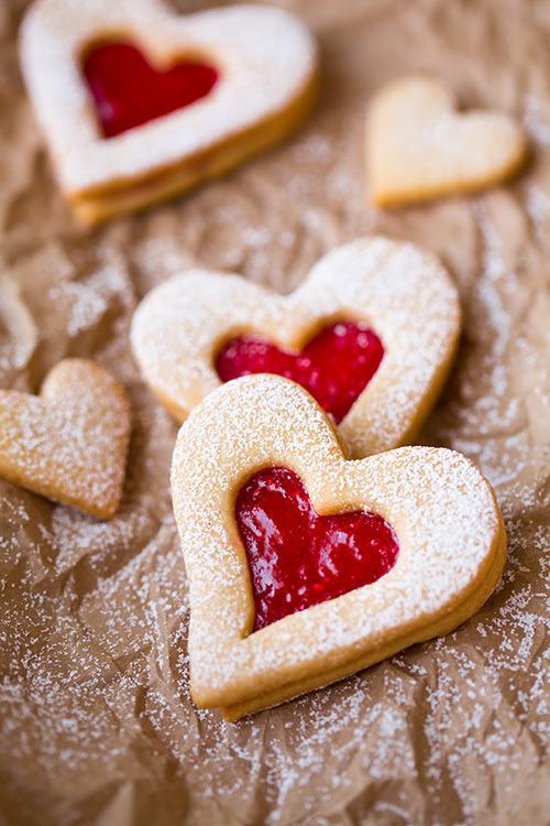 Linzer Cookies Cooking Classy on We Heart It.