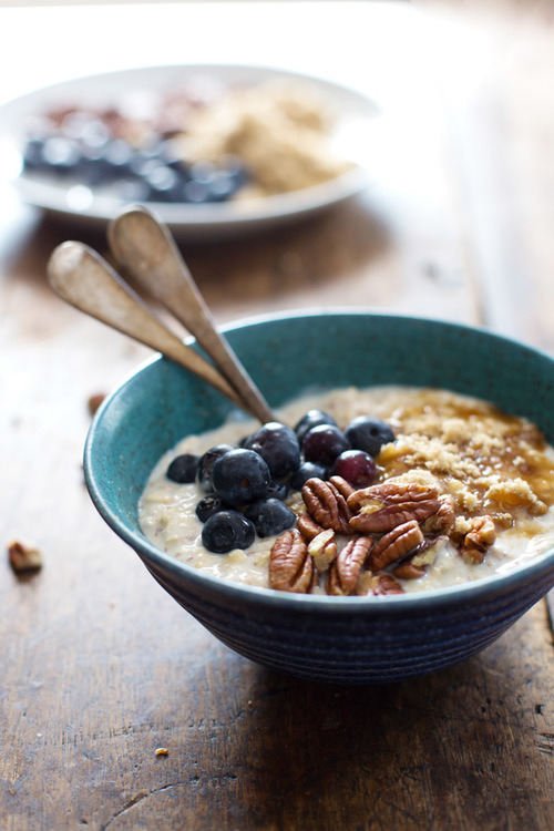 Flax and Blueberry Vanilla Overnight Oats Pinch of Yum on We Heart It.