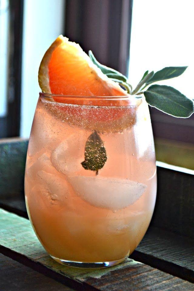 Grapefruit & Sage Mimosa (Bakeaholic Mama)