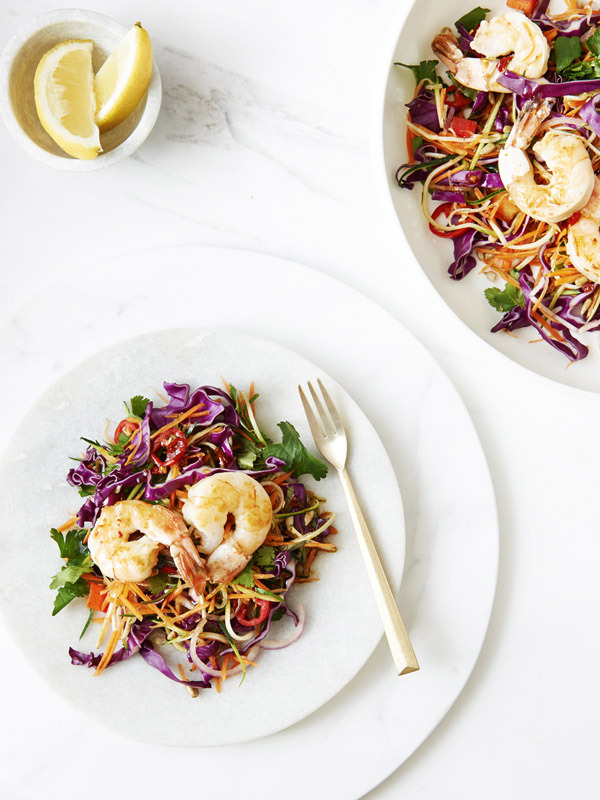 Vietnamese Coleslaw with Prawns Taken by Eve Wilson via thedesignfiles