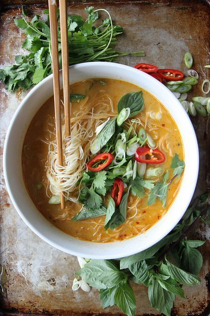 spicy thai curry noodle soup sulia.com