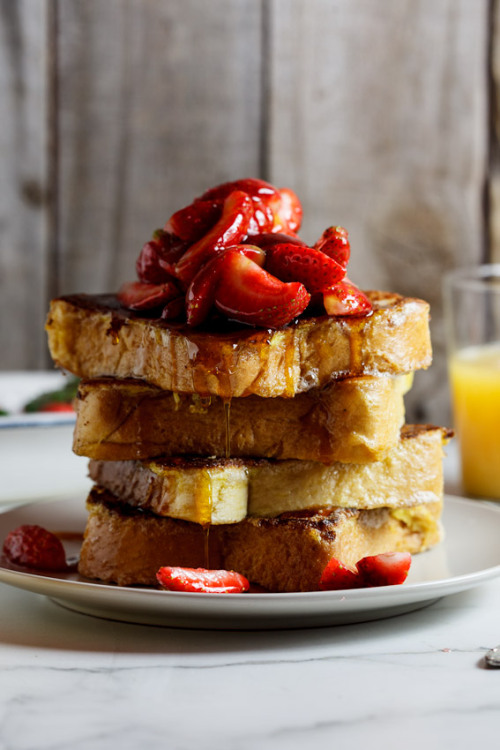 Lemon French Toast With Fresh Strawberries Simply Delicious Food