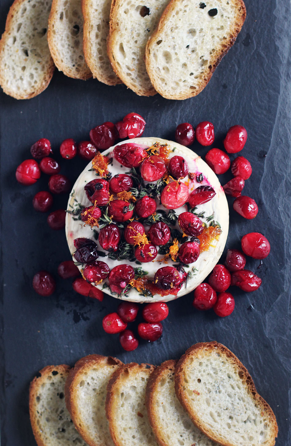 Baked Brie with Maple-Roasted Cranberries