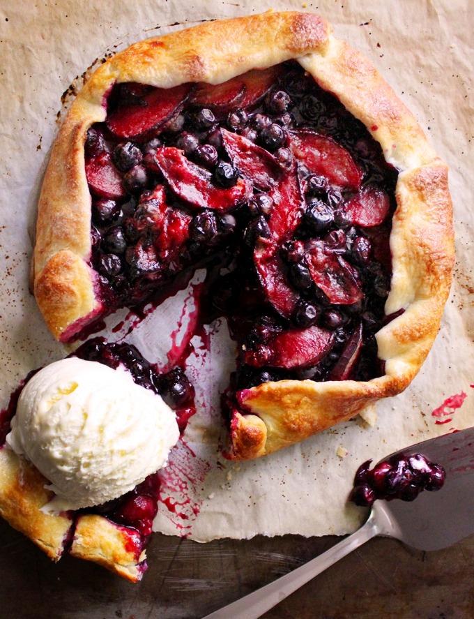 Blueberry & plum galette
