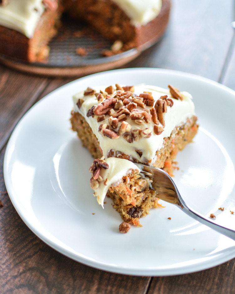 Carrot Cake with Pecans and Cream Cheese Frosting