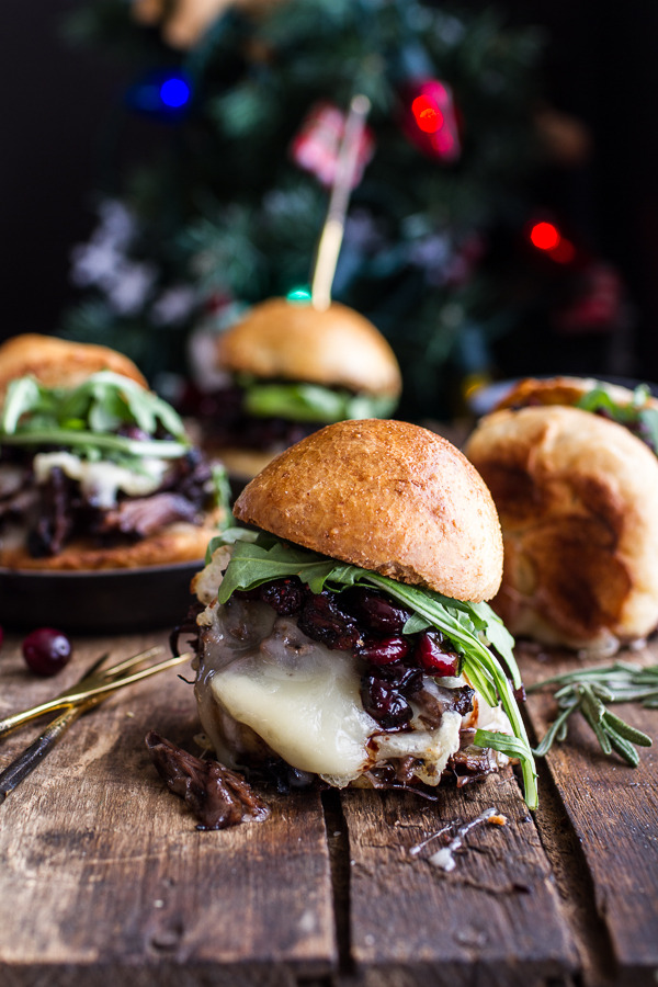 Steak and Brie Sliders with Balsamic Cranberry Sauce