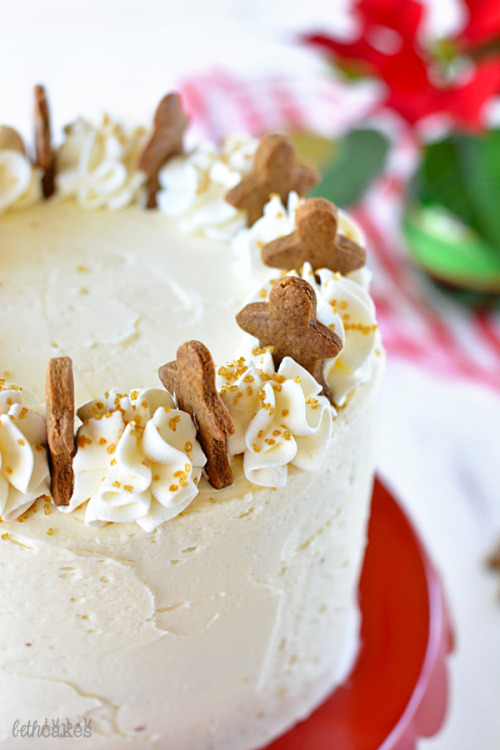 Gingerbread Cake with Maple Bourbon Frosting Beth Cakes