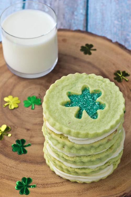 Pistachio Pudding Linzer CookiesSource