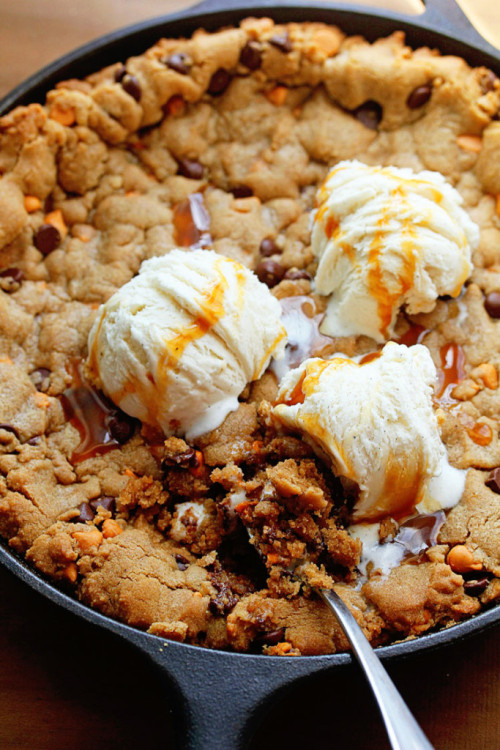 Chocolate Chip Cookie Skillet with Butterscotch ChipsSource