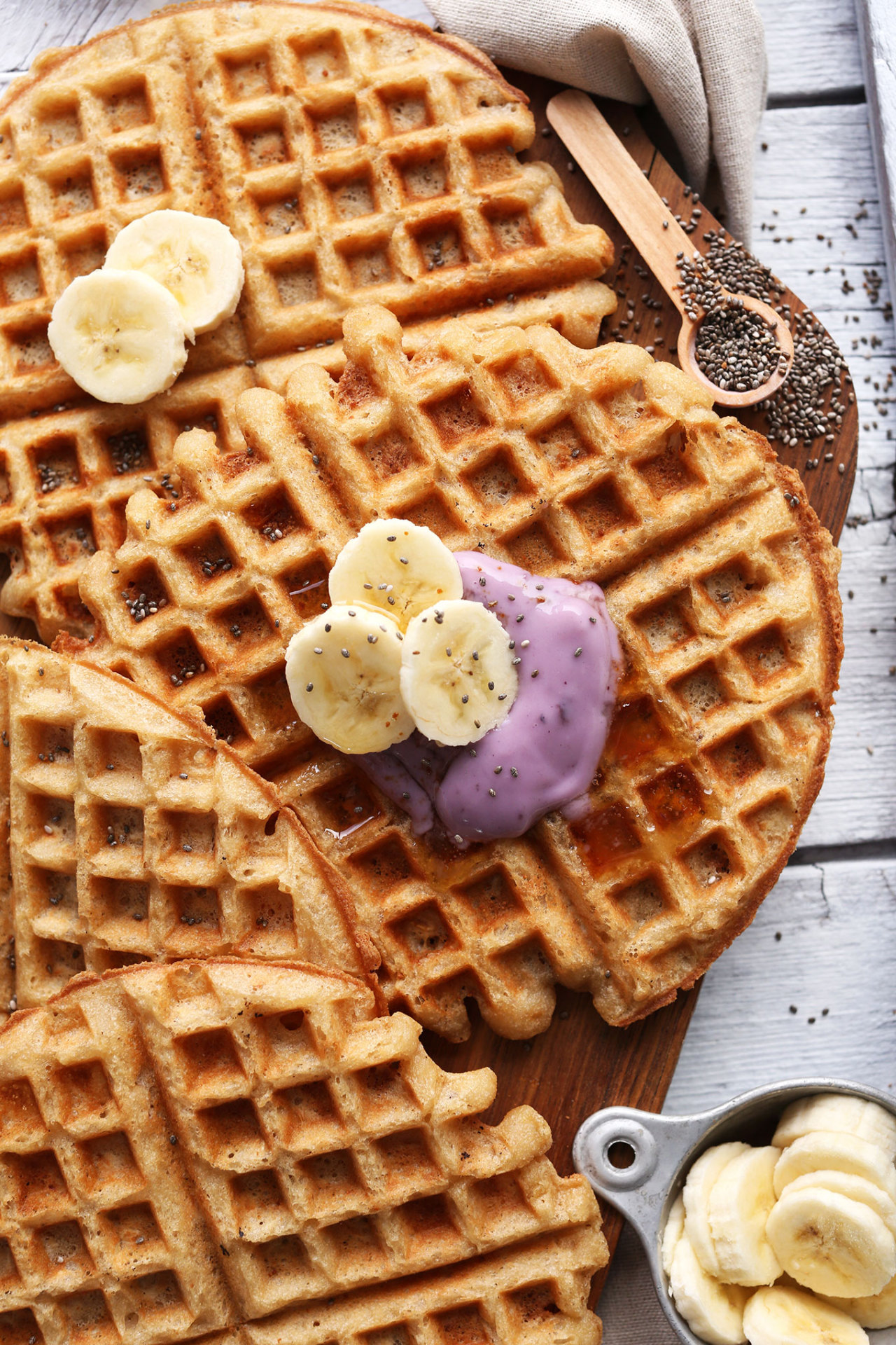 Coconut Yogurt Waffles