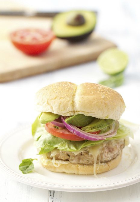 Grilled Turkey Burgers with Greek Yogurt-Based SauceSource