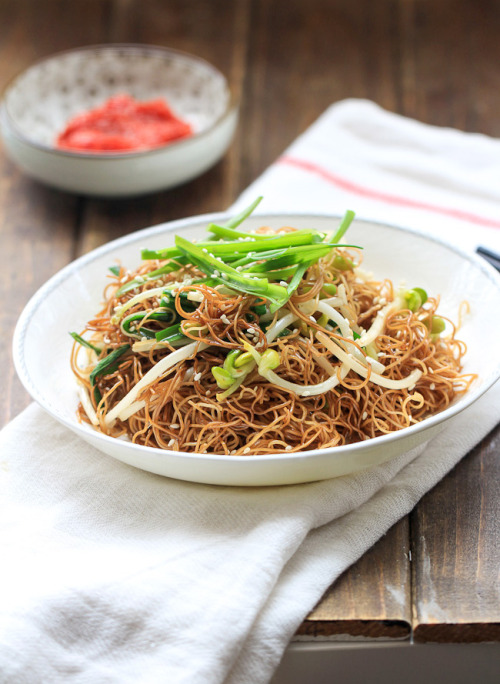 Soy Sauce Fried Noodles (Chow Mein)Source