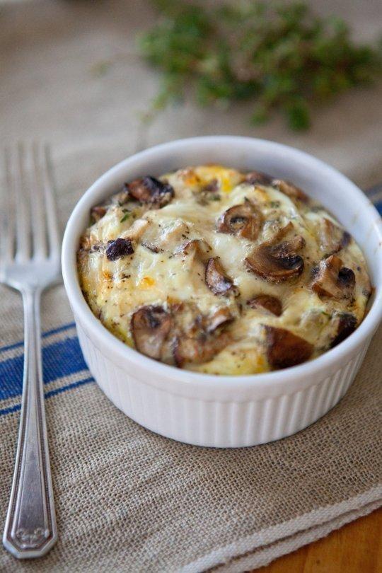 Mixed Mushroom Egg Bakes