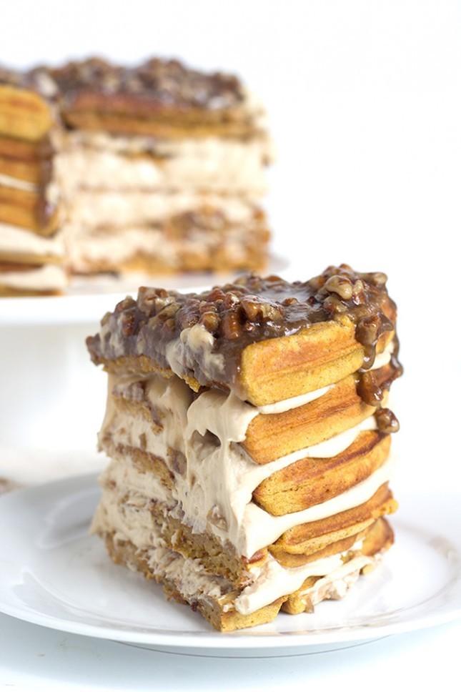 Pumpkin Pie Waffle Cake