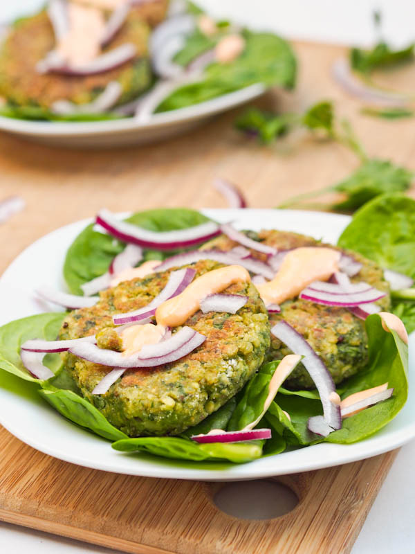 (via Vegan Cauliflower Chickpea Quinoa Fritters {Gluten-Free})